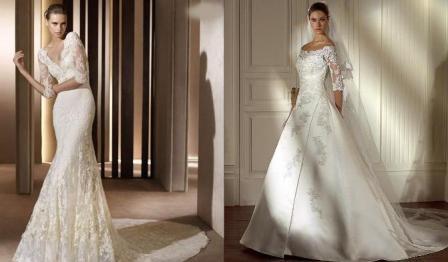"""5 kiểu áo cưới đẹp """"phù phép"""" cho cô dâu gầy"""